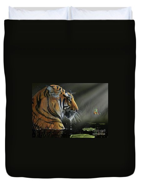 A Chance Encounter II Duvet Cover