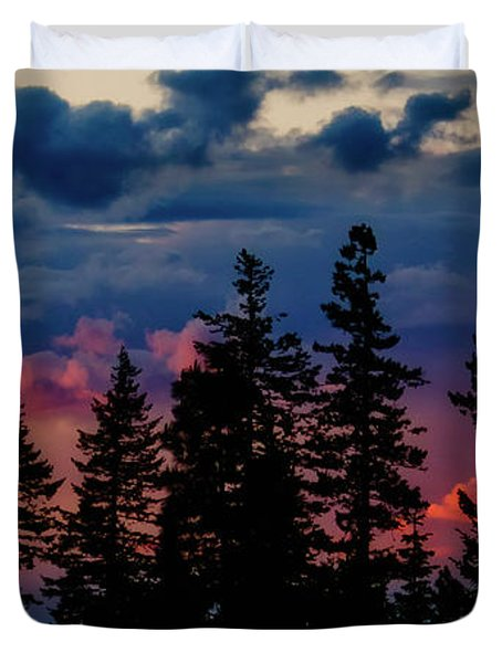 Duvet Cover featuring the photograph A Chance Of Thundershowers by Albert Seger