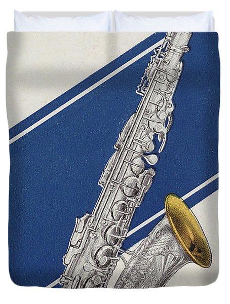 A Charles Gerard Conn Eb Alto Saxophone Duvet Cover
