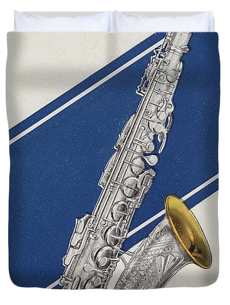 A Charles Gerard Conn Eb Alto Saxophone Duvet Cover by American School