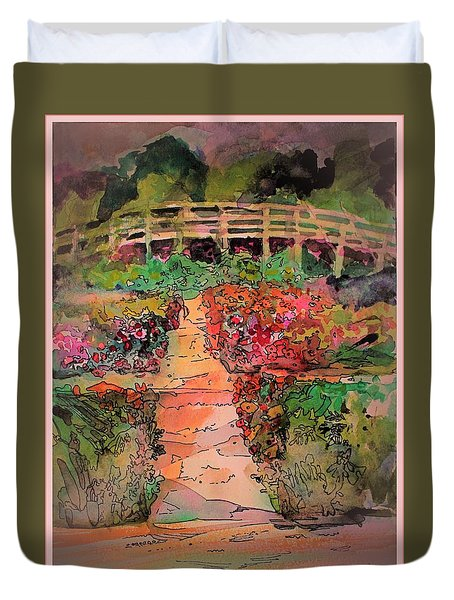 A Charming Path Duvet Cover by Mindy Newman