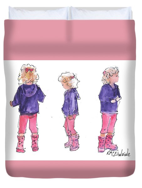 A Childs Pose Duvet Cover
