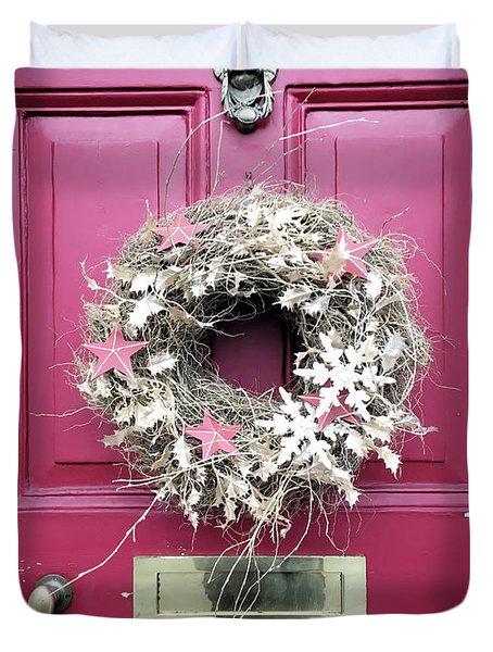 A Christmas Wreath Duvet Cover