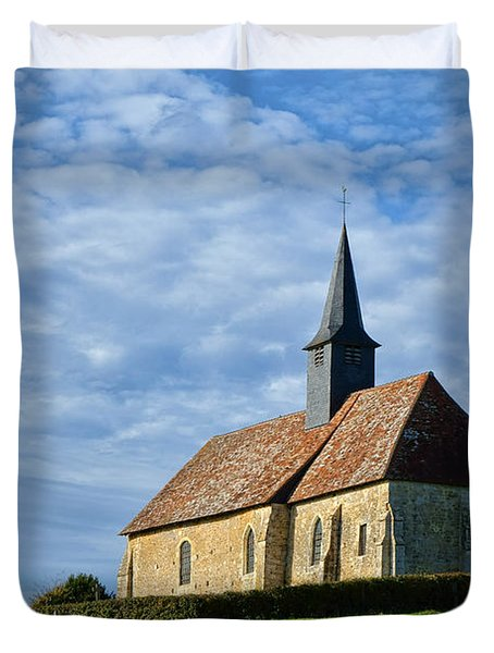 A Church In France Duvet Cover