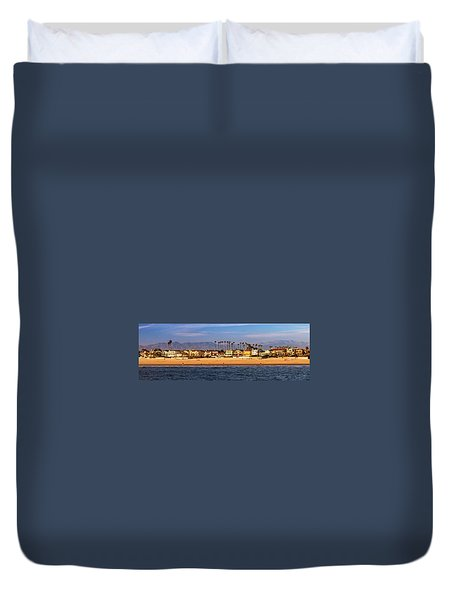 Duvet Cover featuring the photograph A Clear Day At The Beach by James Eddy