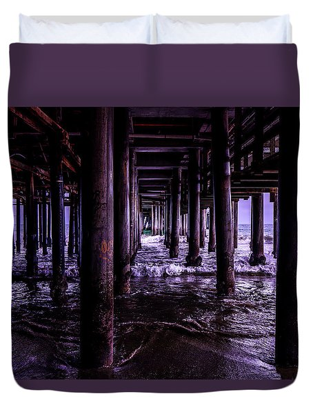 A Cloudy Day Under The Pier Duvet Cover