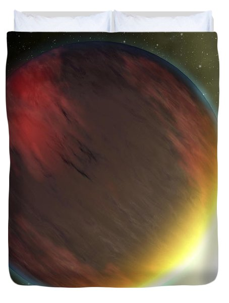 A Cloudy Jupiter-like Planet That Duvet Cover by Stocktrek Images