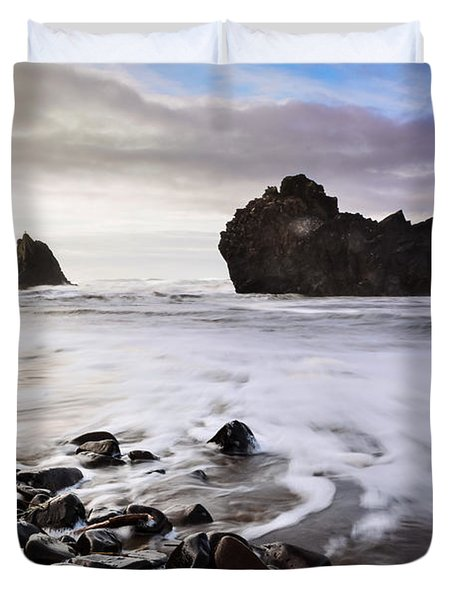 A Cloudy Sea Duvet Cover