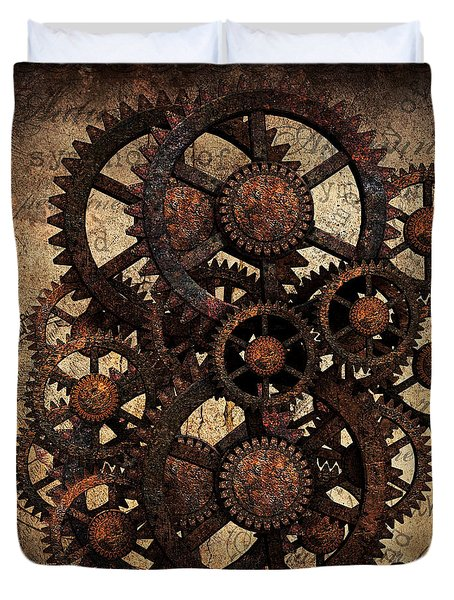A Cog In The Machine That Governs Us Duvet Cover