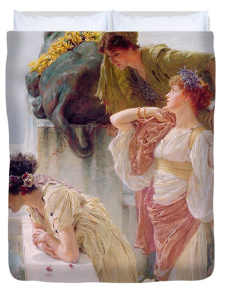 A Coign Of Vantage Duvet Cover by Sir Lawrence Alma-Tadema