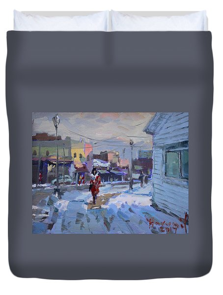A Cold Afternoon In Tonawanda Duvet Cover