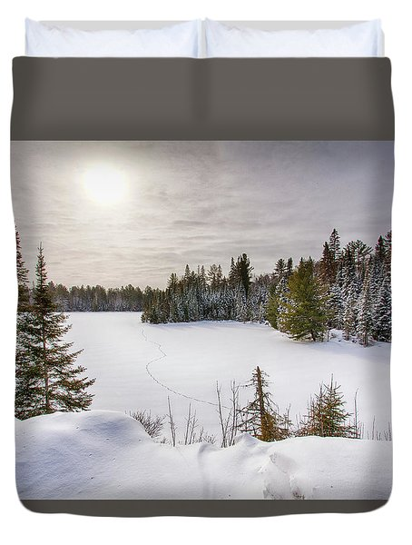 A Cold Algonquin Winters Days  Duvet Cover