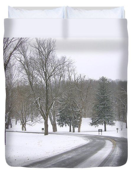 A Cold Winter's Day Duvet Cover by Skyler Tipton