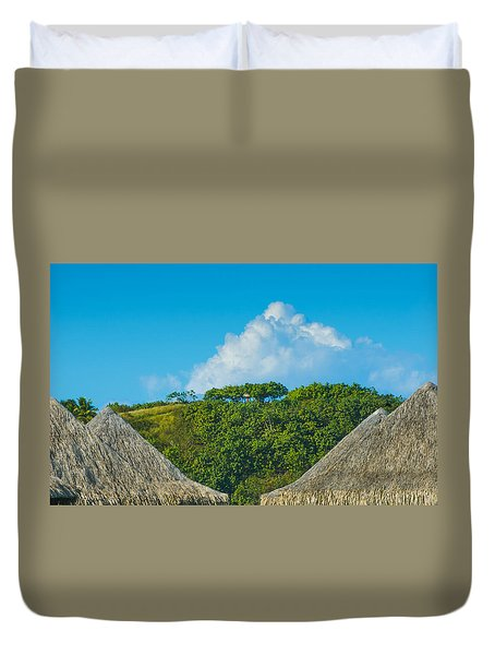 Duvet Cover featuring the photograph A Collection Of Triangles In Bora Bora by Gary Slawsky