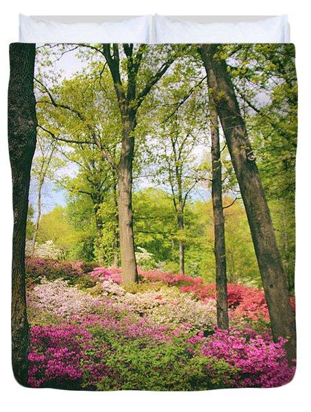 A Colorful Hillside Duvet Cover