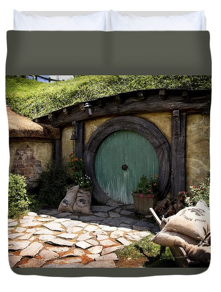 A Colorful Hobbit Home Duvet Cover