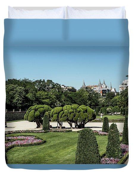 Colorfull El Retiro Park Duvet Cover