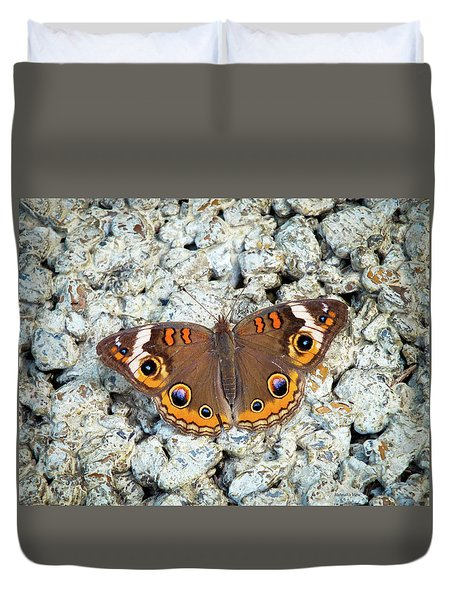 A Common Buckeye Duvet Cover