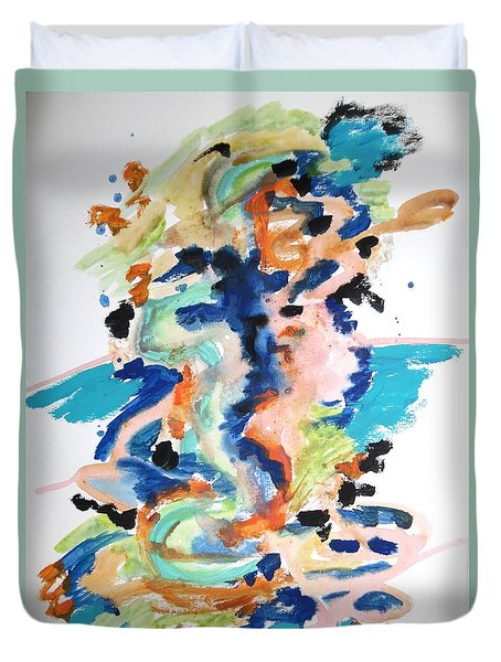 Duvet Cover featuring the painting A Confusion Of Impressions by Esther Newman-Cohen