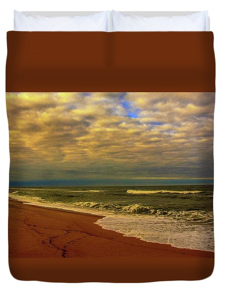 A Congregation Of Clouds Duvet Cover by John Harding