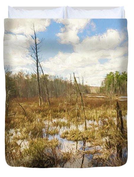A Connecticut Marsh Duvet Cover