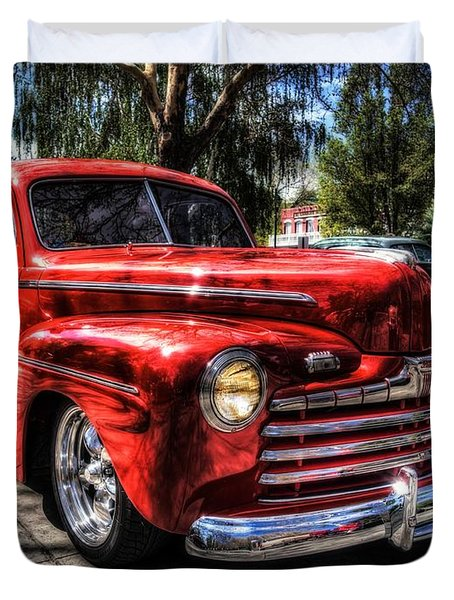Duvet Cover featuring the photograph A Cool 46 Ford Coupe by Thom Zehrfeld