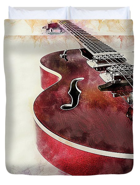 A Cool Guitar Duvet Cover