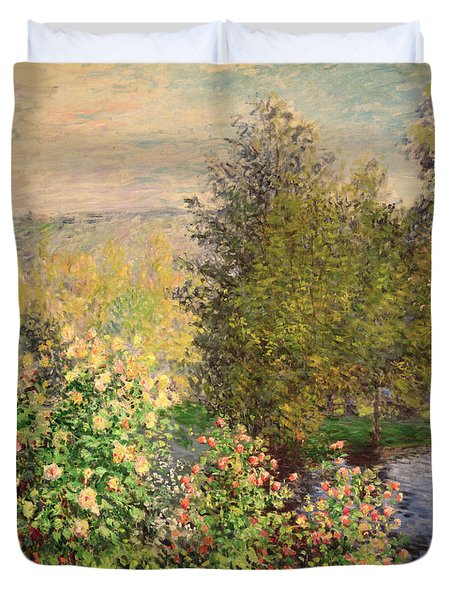 A Corner Of The Garden At Montgeron Duvet Cover