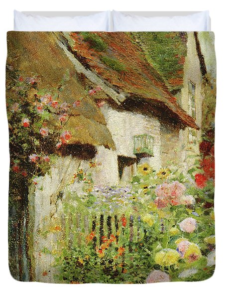 A Cottage Door Duvet Cover