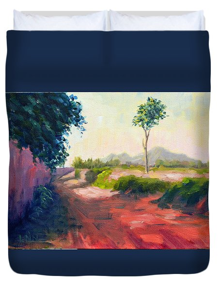 A Countryside Road Duvet Cover