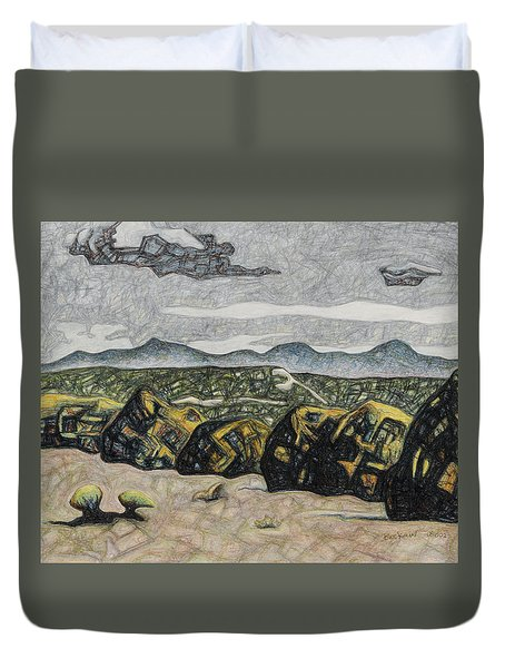 A Couple Of Clouds Duvet Cover by Dale Beckman