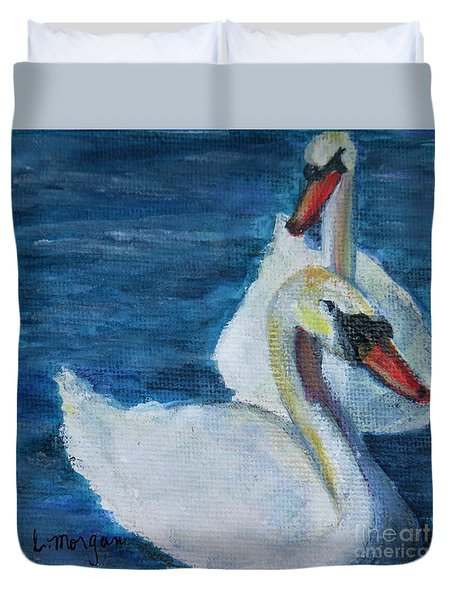 A Couple Of Swans Duvet Cover