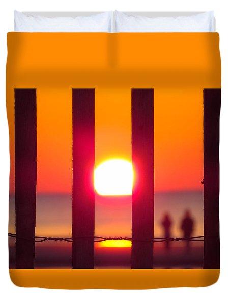 Duvet Cover featuring the photograph A Couple's Sunrise by Nikki McInnes