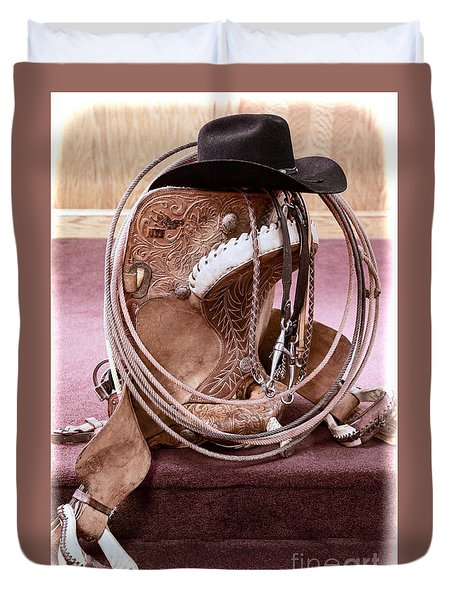 A Cowboy's Gear Duvet Cover