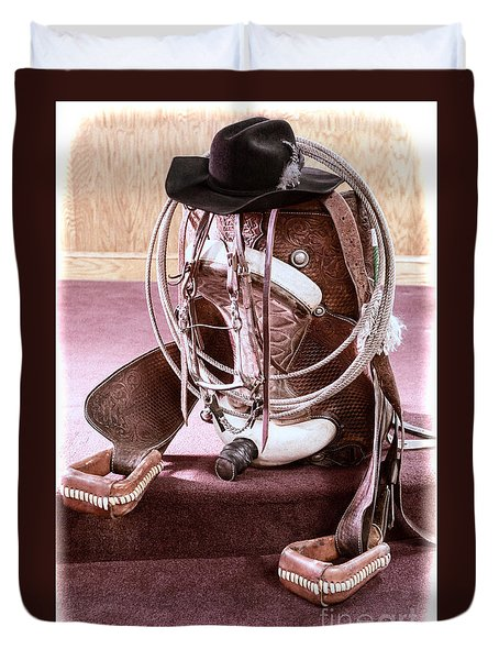 A Cowgirl's Gear Duvet Cover