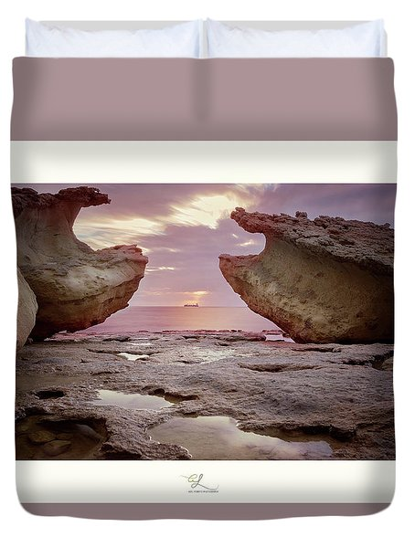 A Crab Stone, By The Cosmic Joker Duvet Cover