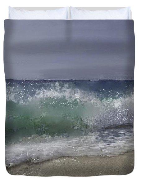 A Crashing Wave Duvet Cover