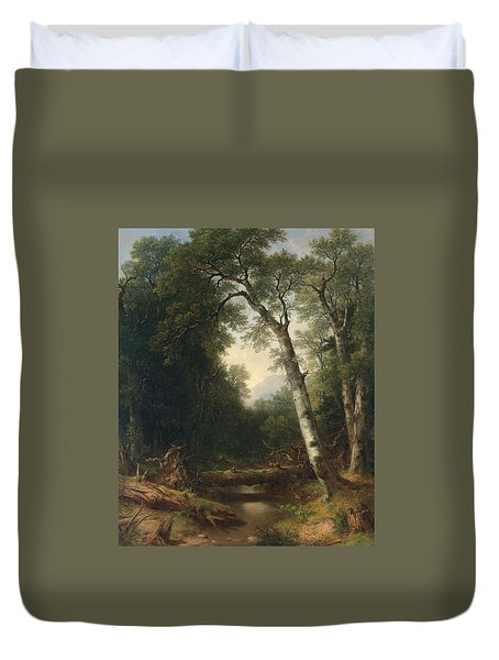 A Creek In The Woods Duvet Cover