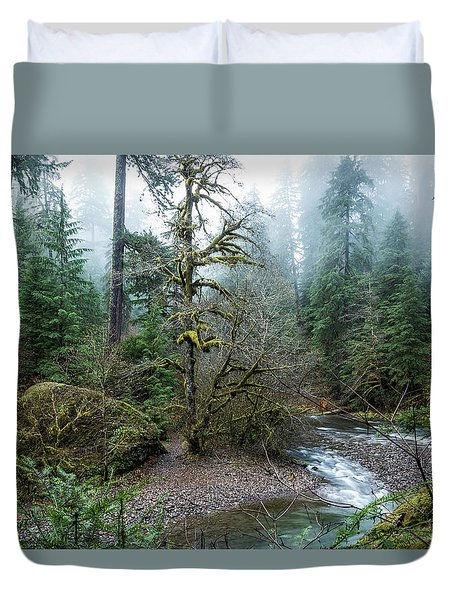 A Creek Runs Through It Duvet Cover