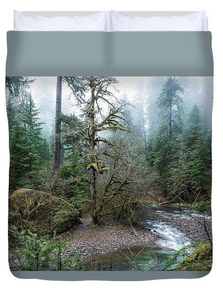 A Creek Runs Through It Duvet Cover