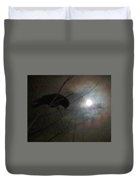 A Crow Moon Duvet Cover