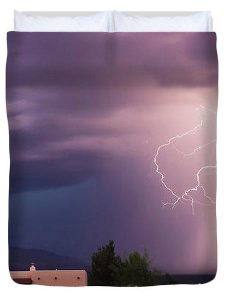 A Dance Of Lightning In The Foothills Duvet Cover
