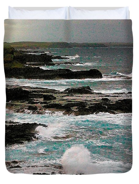 A Dangerous Coastline Duvet Cover