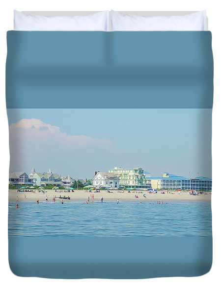 Duvet Cover featuring the photograph A Day At The Beach - Cape May New Jesey by Bill Cannon
