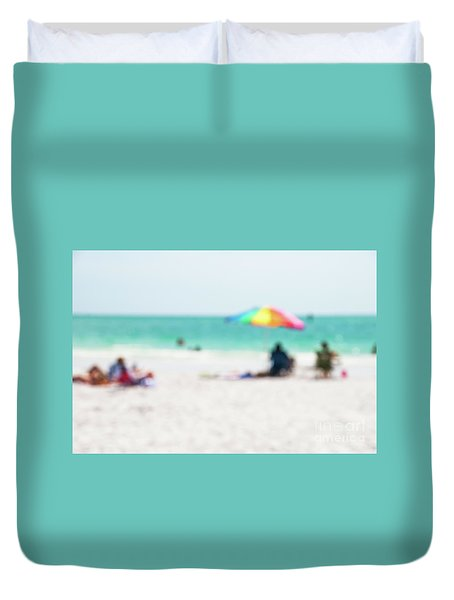 Duvet Cover featuring the photograph a day at the beach IV by Hannes Cmarits