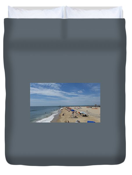 Duvet Cover featuring the photograph A Day At The Beach by Robert Banach
