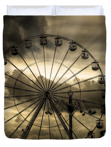 Duvet Cover featuring the photograph A Day At The Fair by Chris Lord