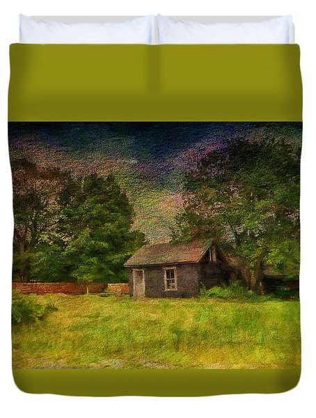 A Day At The Farm Duvet Cover by Tricia Marchlik