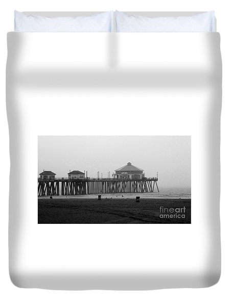 Duvet Cover featuring the photograph A Day At The Pier by Ruth Jolly