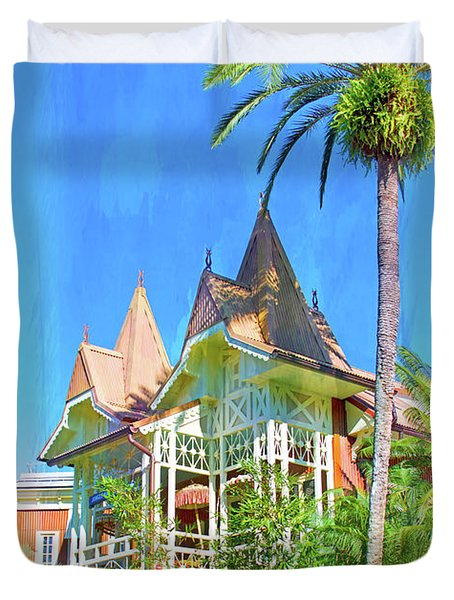 Duvet Cover featuring the photograph A Day In Adventureland by Mark Andrew Thomas